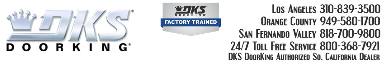 DKS Door King Call Numbers for Fix and Repair Services.