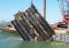 Corpus Christi, TX  Pier wall collapse cut and salvage.