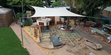 WA Painters-Perth build timber deck frame