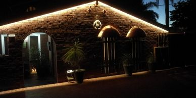 Timber Gable & strip led lighting by WA Painters of Perth with Quality Painting and Service.