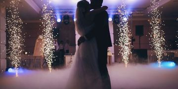 Sparkler Effect, Dancing on a cloud, Uplighting, New Jersey, Wedding, North Jersey, Bergen County