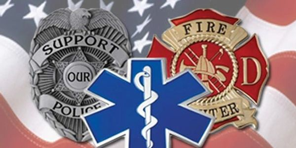 Fire Fighters Police officers Paramedics Doctors Life Flight thank you for protecting our loved ones