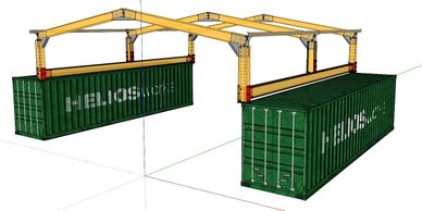"alt=""Container sheds to suit 20 and 40 ft shipping containers"""