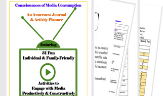Free Media Consumption Awareness Journal and Activity Planner
