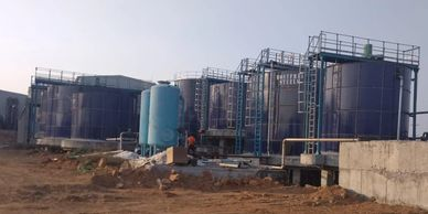 Effluent treatment plant with bolted tanks, GFS tanks, Znal tanks using anaerobic and aerobic techno