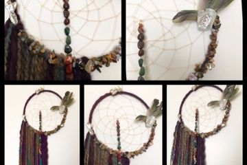 Dream Catcher, Jasper Feather Rock, Feathers