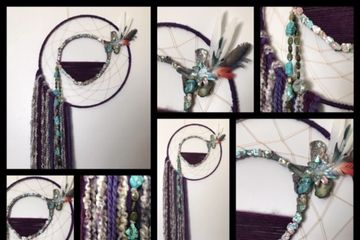 Dream Catcher, Abalone, feathers