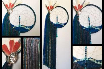 Dream Catcher, Three Red Feathers