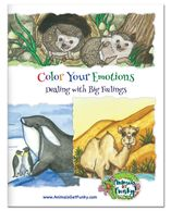 Emotions and feelings coloring book for children of all ages.  Dealing with Big Feelings.