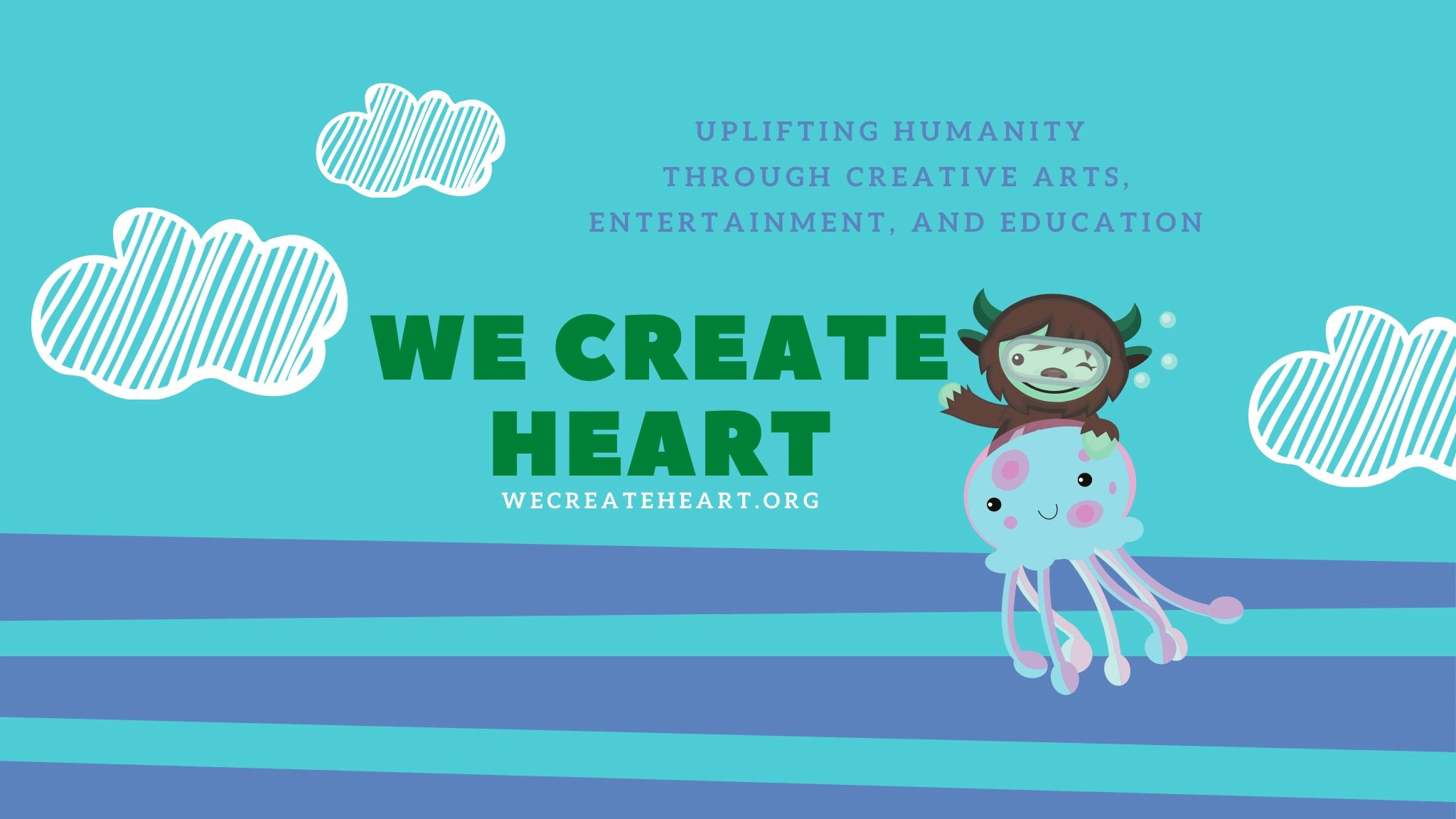 We donate a portion of our proceeds to We Create Heart and nonprofit organization  uplifting humanit