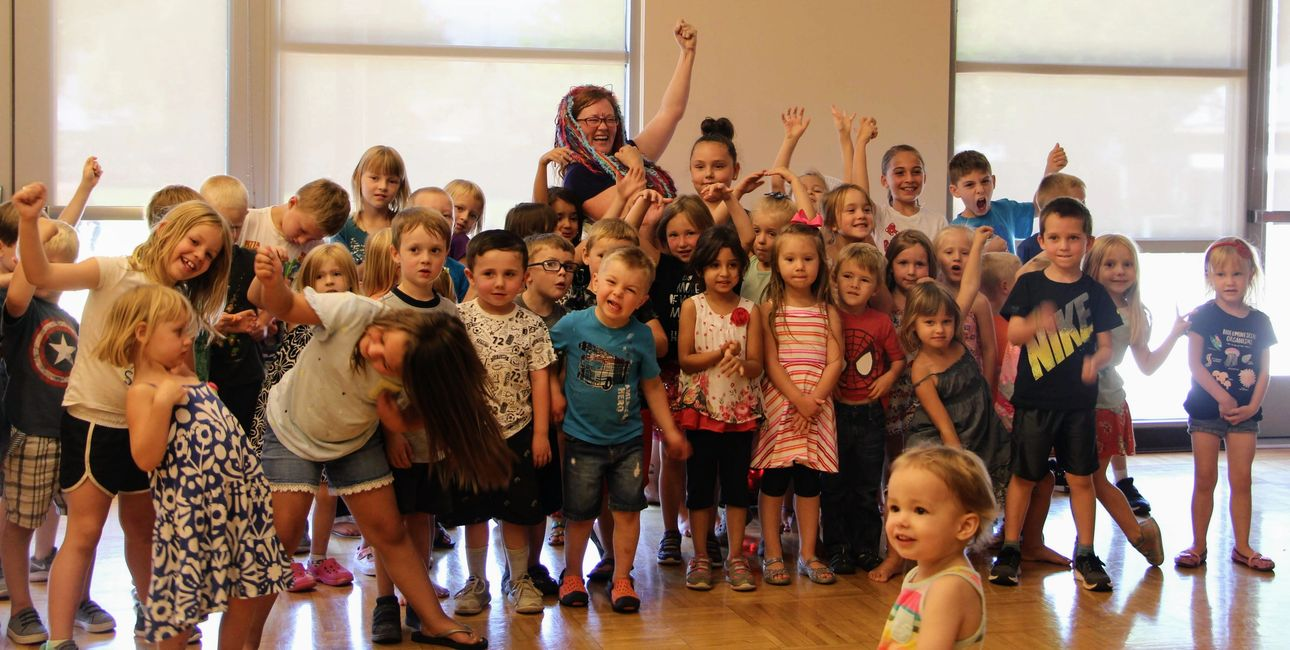 Children's book author, Sarahndipity Johnsen, at Mesa County Library Fruita for Animals Get  Funky