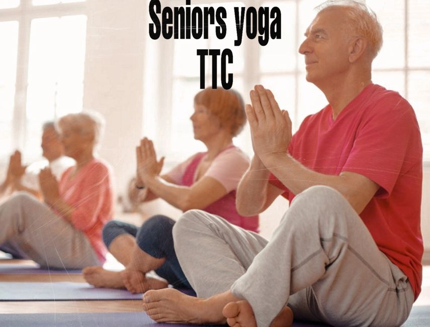 Seniors yoga TTC, yoga teacher training program  designed for seniors care takers and family