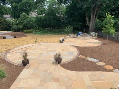 Custom circle patio in Nashville, TN