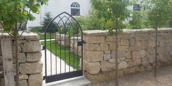 beautiful artistic unique modern traditional century style garden driveway gates london ontario