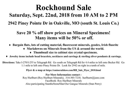 Rockhound Sale Flyer 2018