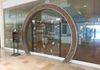Pebbles, Chandler fashion center, custom arch with pebble inlay by Coyote Glass LLC