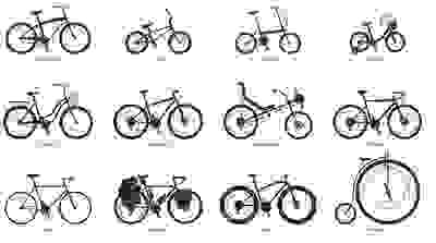the many different types of bicycles