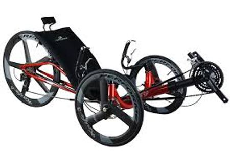 red recumbent bicycle