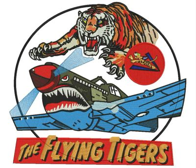 "This ""Flying Tigers"" design was brought in by one of veterans on a piece of paper."