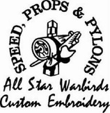 All Star Warbirds Custom Embroidery