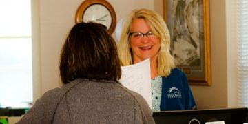 Wendy Olson is a receptionist at Idaho Equine Hospital