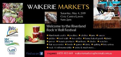 Waikerie Markets - Riverland Rock 'n' Roll Festival, Saturday May 4 2019