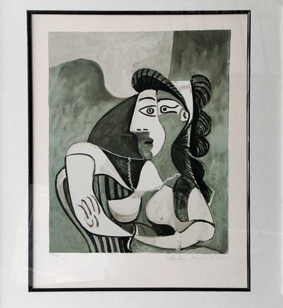 Pablo Picasso, Woman Leaning On Chair, 1982