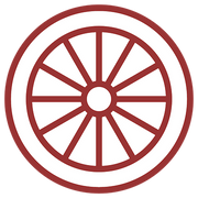 Wheel icon for custom bicycle wheels builds