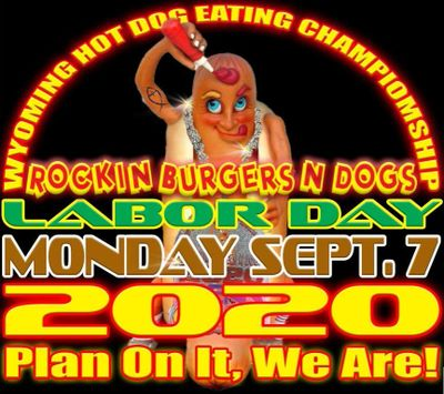 Wyoming Hot Dog Eating Contest Championship Car Show Rockin Burgers N Dogs Food Truck Labor Day
