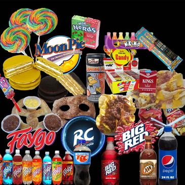 Rockin Burgers N Dogs Faygo RC Cola Big Red Food Truck Soft Pretzels Candy Novelties Casper Wyoming
