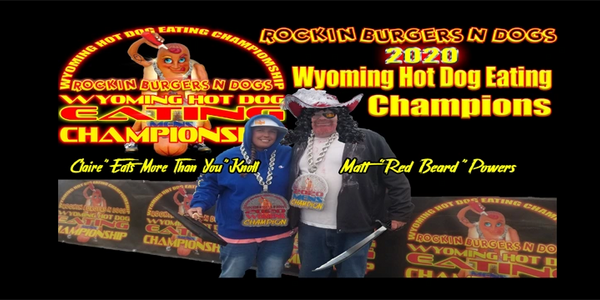 Rockin Burgers N Dogs Wyoming Hot Dog Eating Championship and car show Casper Wyoming Food Truck