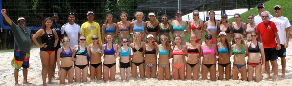 This picture was taken at the CHRVA Beach-HP camp at Dulles Golf's volleyball courts in Sterling Vir