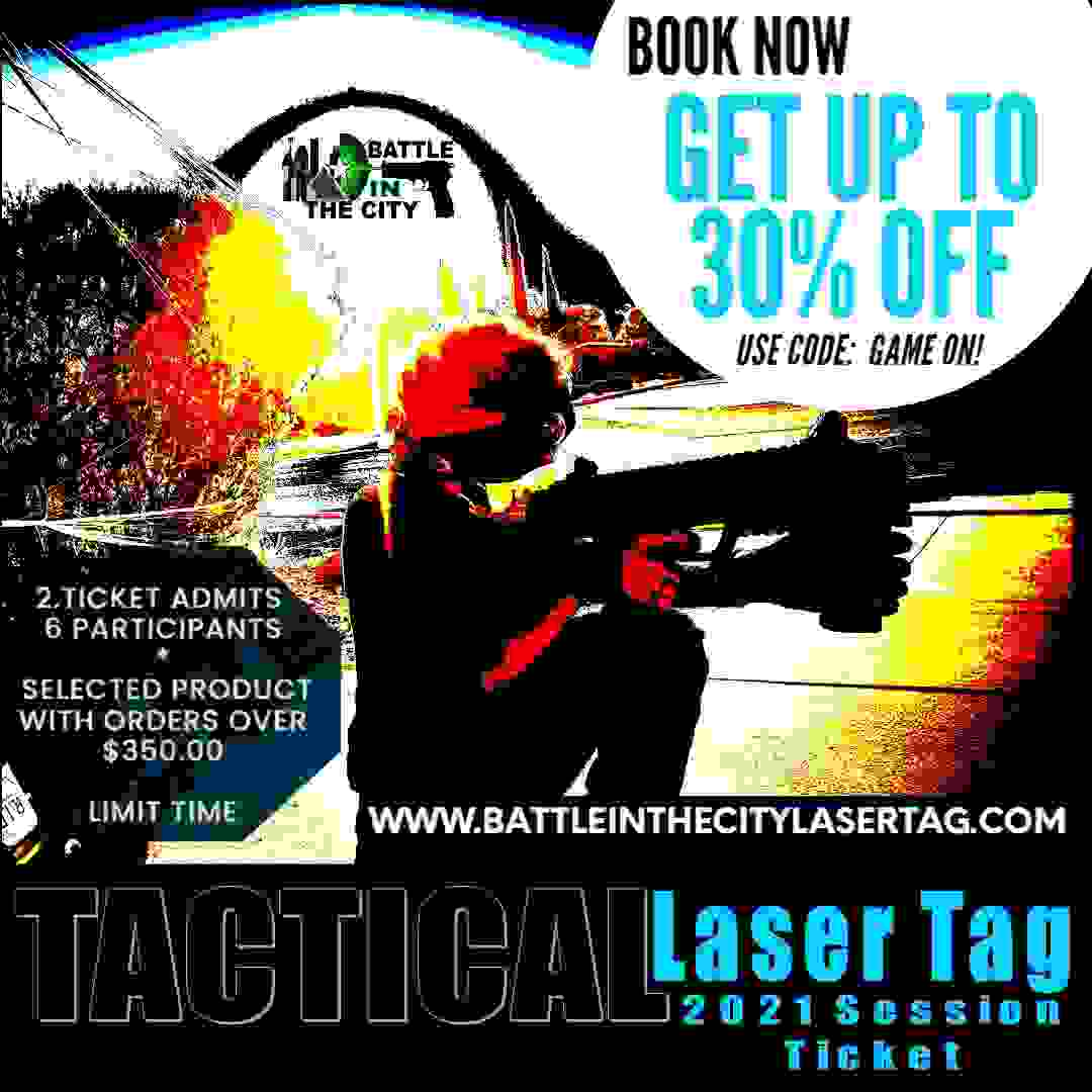 Special offer for friends and family fun day activities for the tactical laser tag sessions