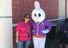 Library Director and Easter Bunny