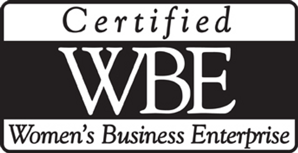 We are a Woman Owned Business. WBE: Women's Business Enterprise.