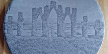 fyrish monument ross-shire laser engraved on slate