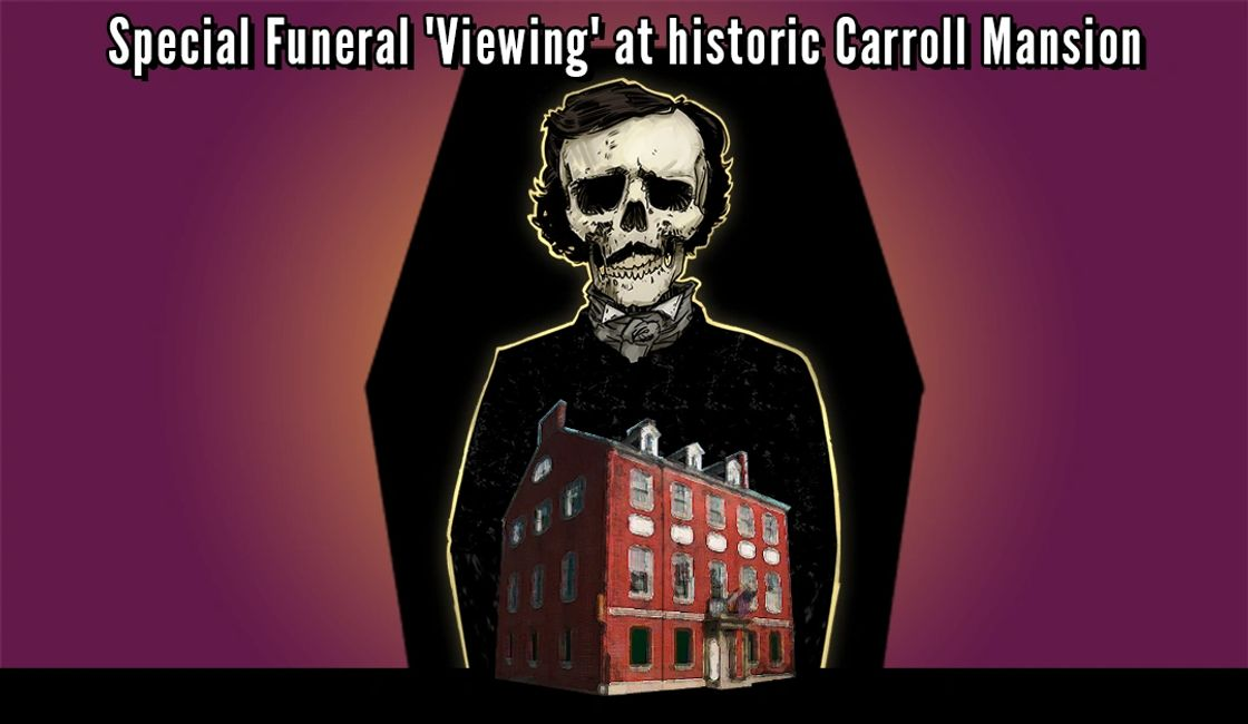 Funeral viewing at Carroll Mansion