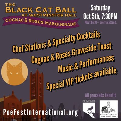 Black Cat Ball at Westminster Hall, Oct 5, 2019. Tickets at BlackCatBall2019.eventbrite.com