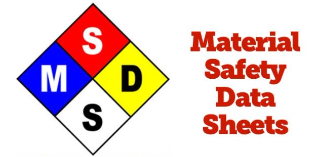 Material Safety Data (MSDS) Sheets