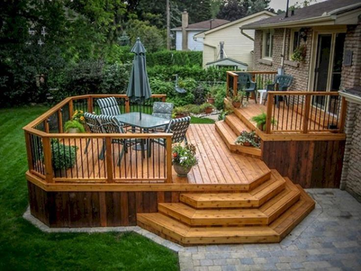 Back Deck - two tone, yellow pine and redwood