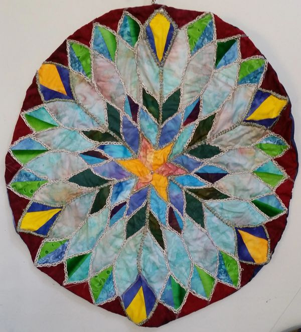 Stained Glass Mandala by Alene Moore