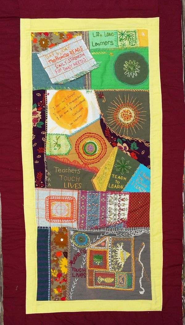 Teachers Touch Lives, Sane Quilt for a Crazy World by Sara Deever