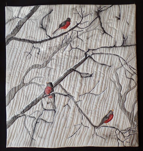 Robins in the Snow by Marty Kotter