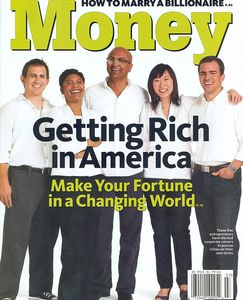 Money Magazine cover.  The first women to be featured on the cover of Money Magazine.