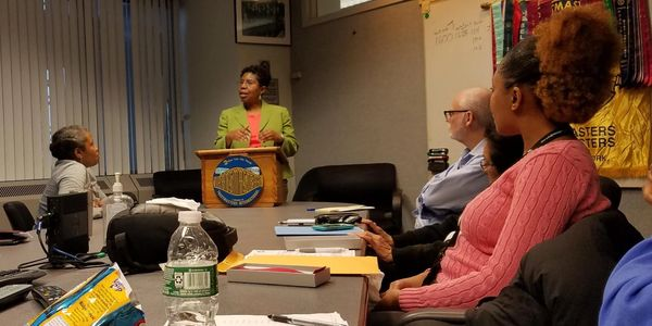 Sandi Webster at Toastmasters