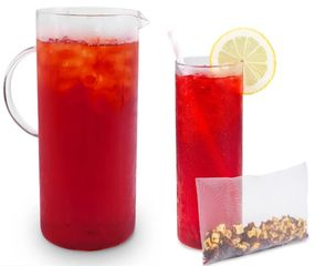 Wild Strawberry Iced Tea Hibiscus Rose Hips