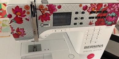Used Bernina 350 Tula Pink Sewing Machine Special Edition For Sale