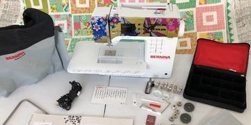 Used Bernina 350 SE Special Edition Cotton & Steel Sewing Machine For Sale - Hello Lovely