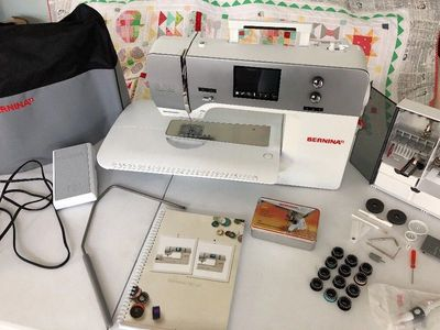 Used Bernina 750 QE Quilters Edition Sewing, Quilting, Embroidery Machine.