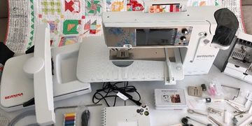 Used Bernina 880 SE Sterling Edition Sewing, Quilting, and Embroidery Machine for sale.